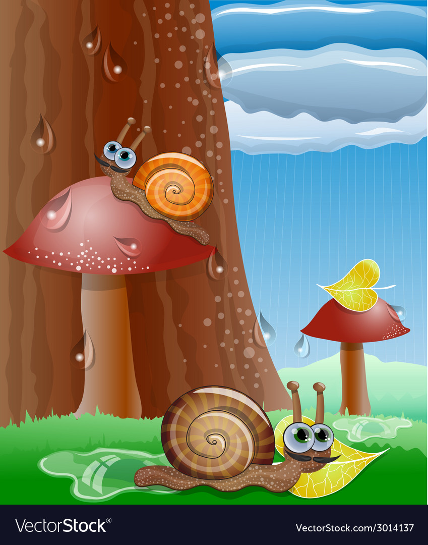 Cute picture with snails