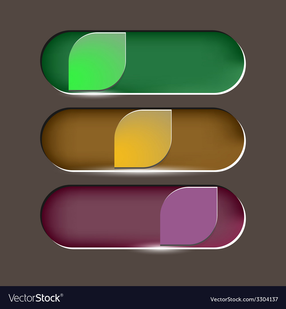 Design leaves button on brown background vector image
