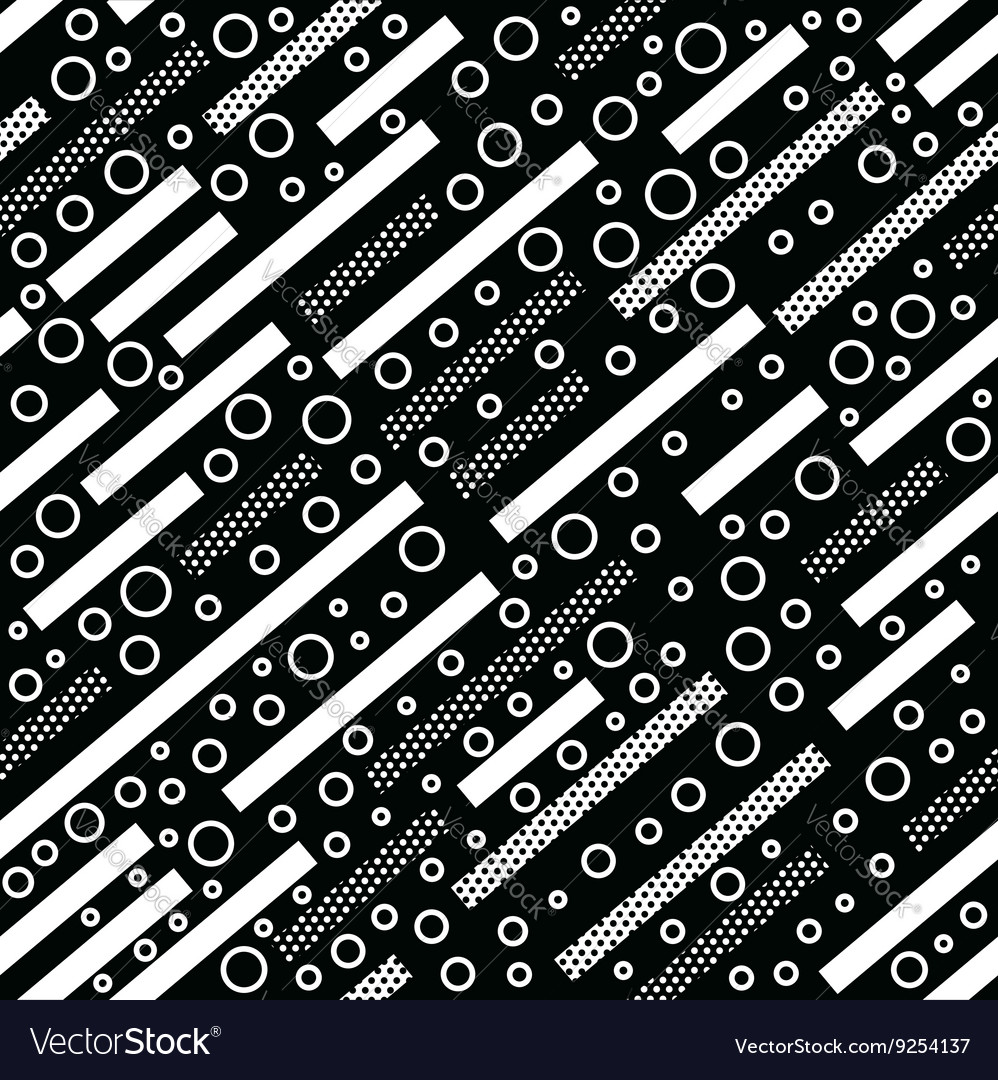 Geometric vintage background in black and white vector image