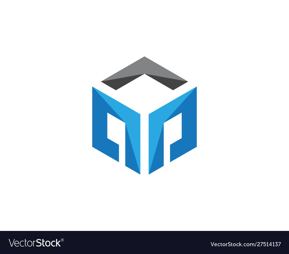P logo hexagon icon