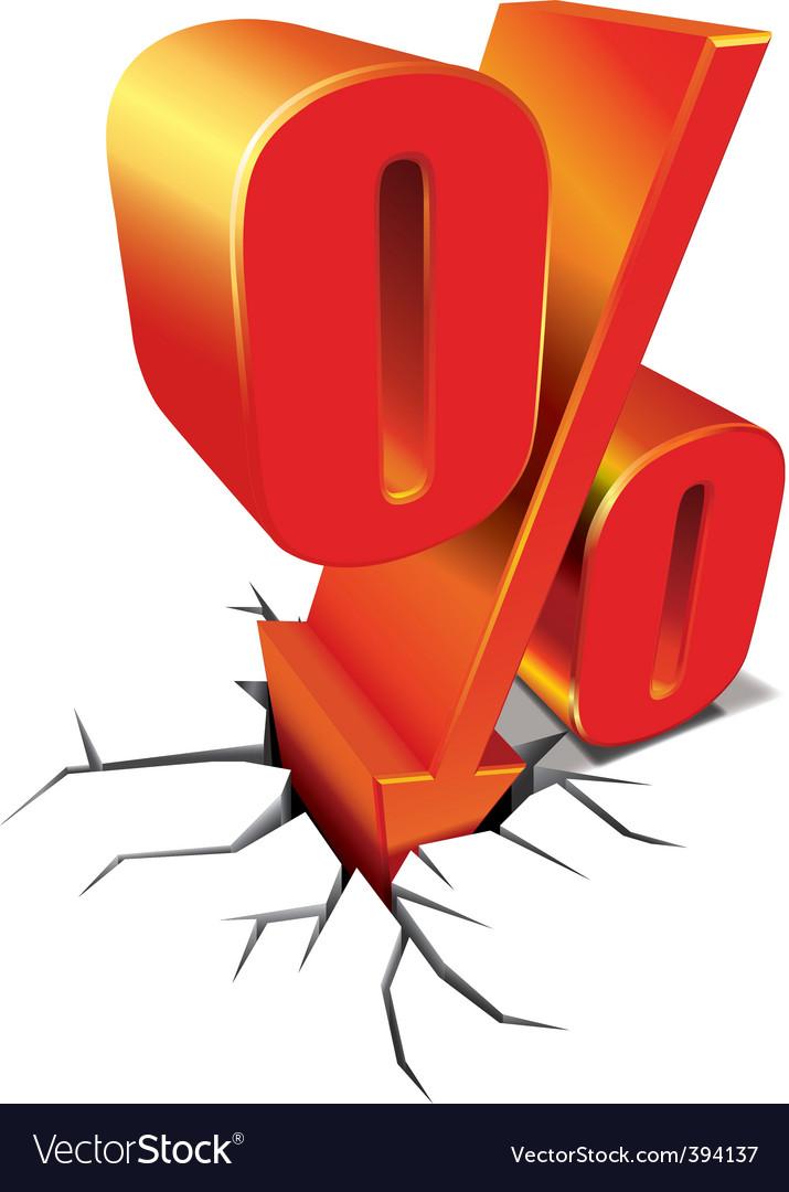 Percent discount vector image
