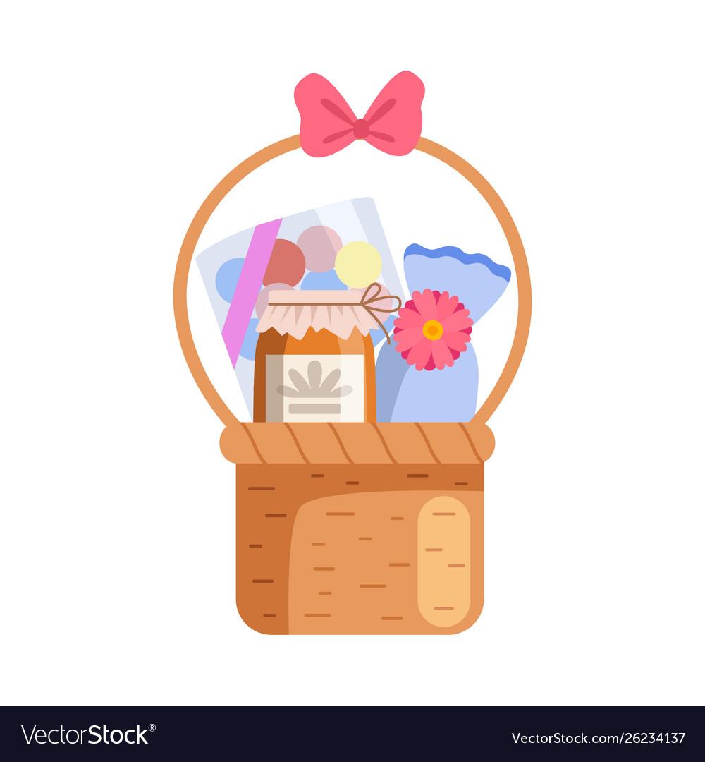 Present basket full gifts birthday xmas
