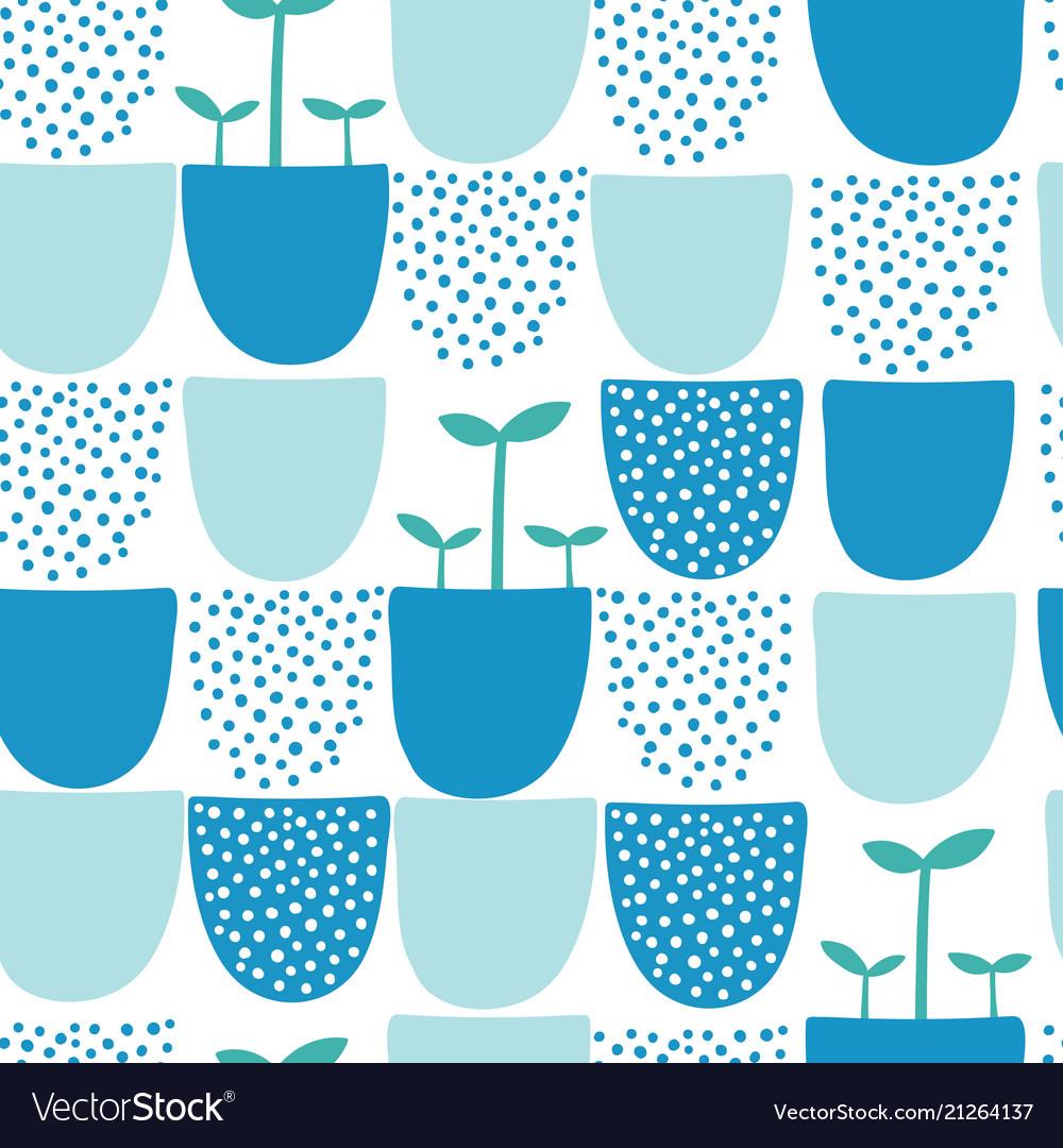 Seamless minimal scandinavian pattern with