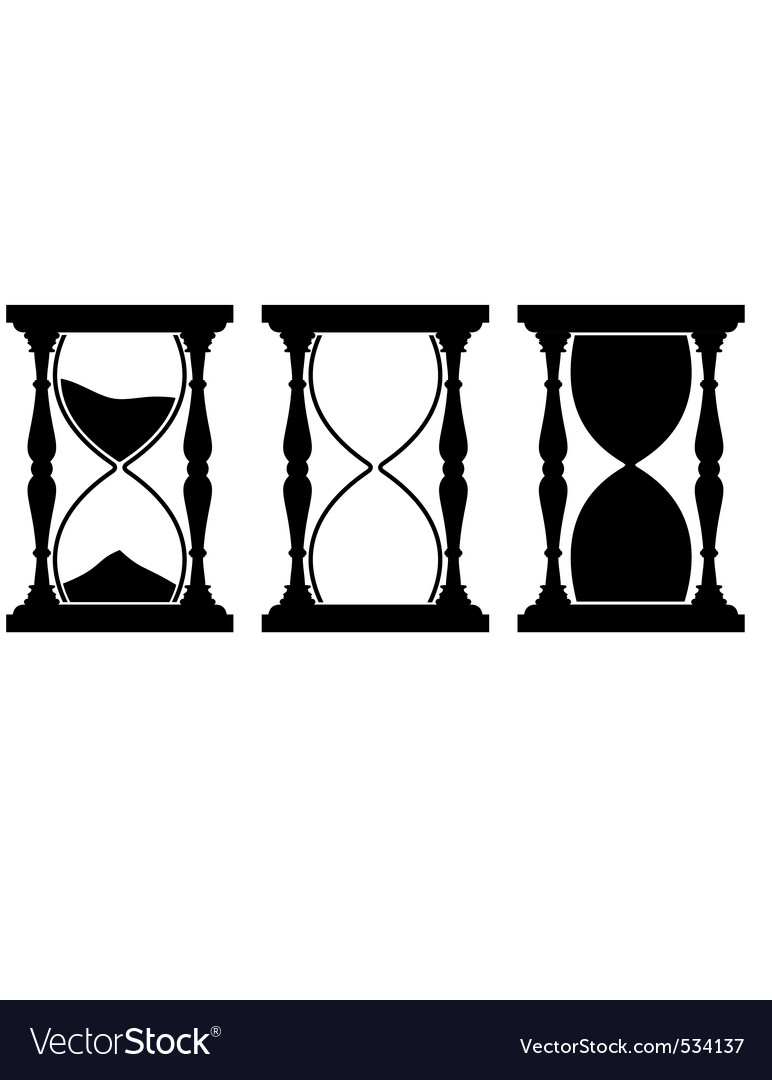 set of sand hourglass royalty free vector image rh vectorstock com hourglass factory lucy ribchester wikipedia hourglass vector graphic free
