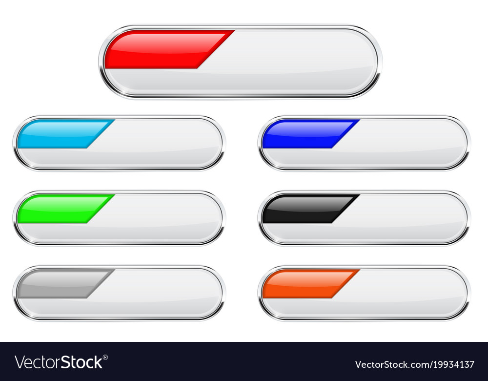 White buttons with colored tags