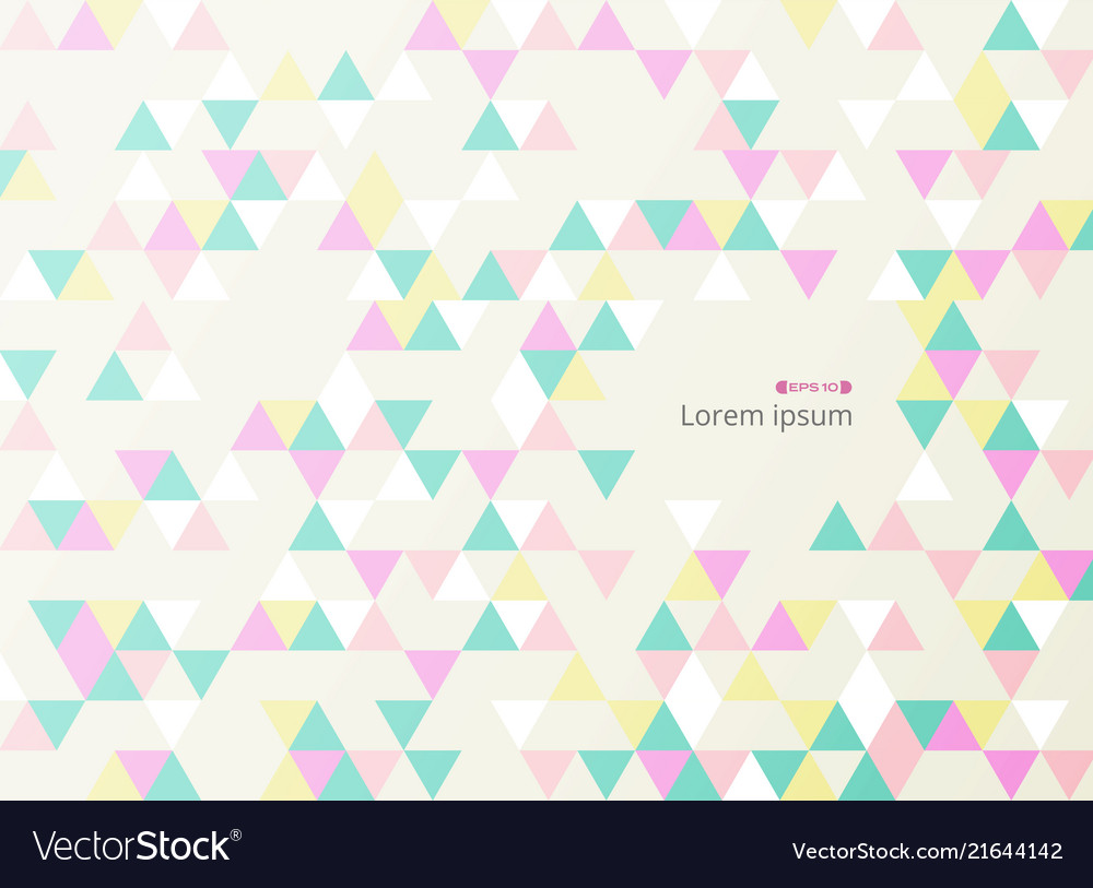Abstract of art space with colorful triangle