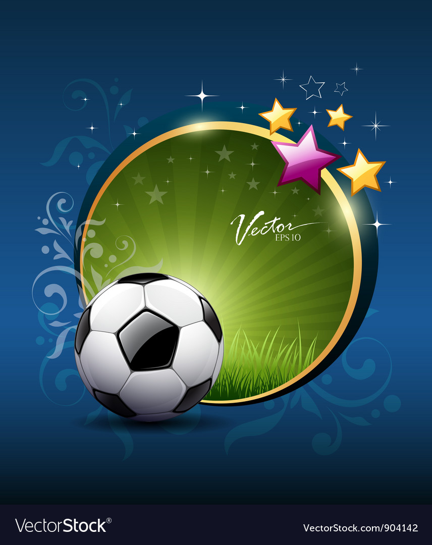 Artistic soccer ball design vector image