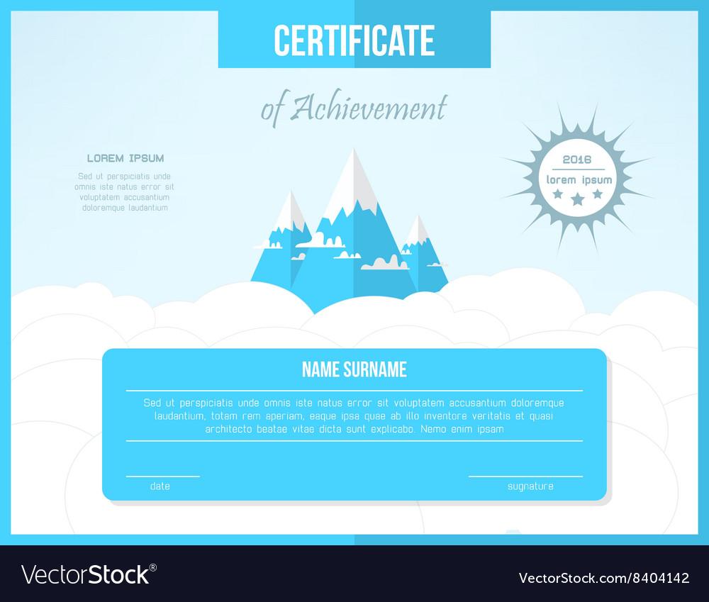 Certificate template for achievement Bright