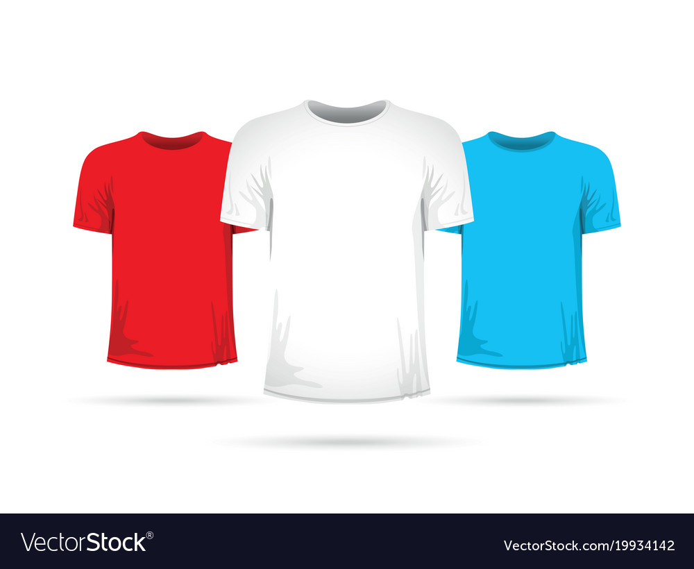 Set of three shirts with different colors