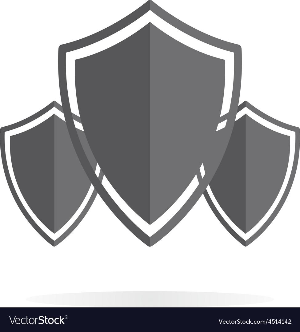 shield protection logo royalty free vector image rh vectorstock com vector shield shape vector shield shape