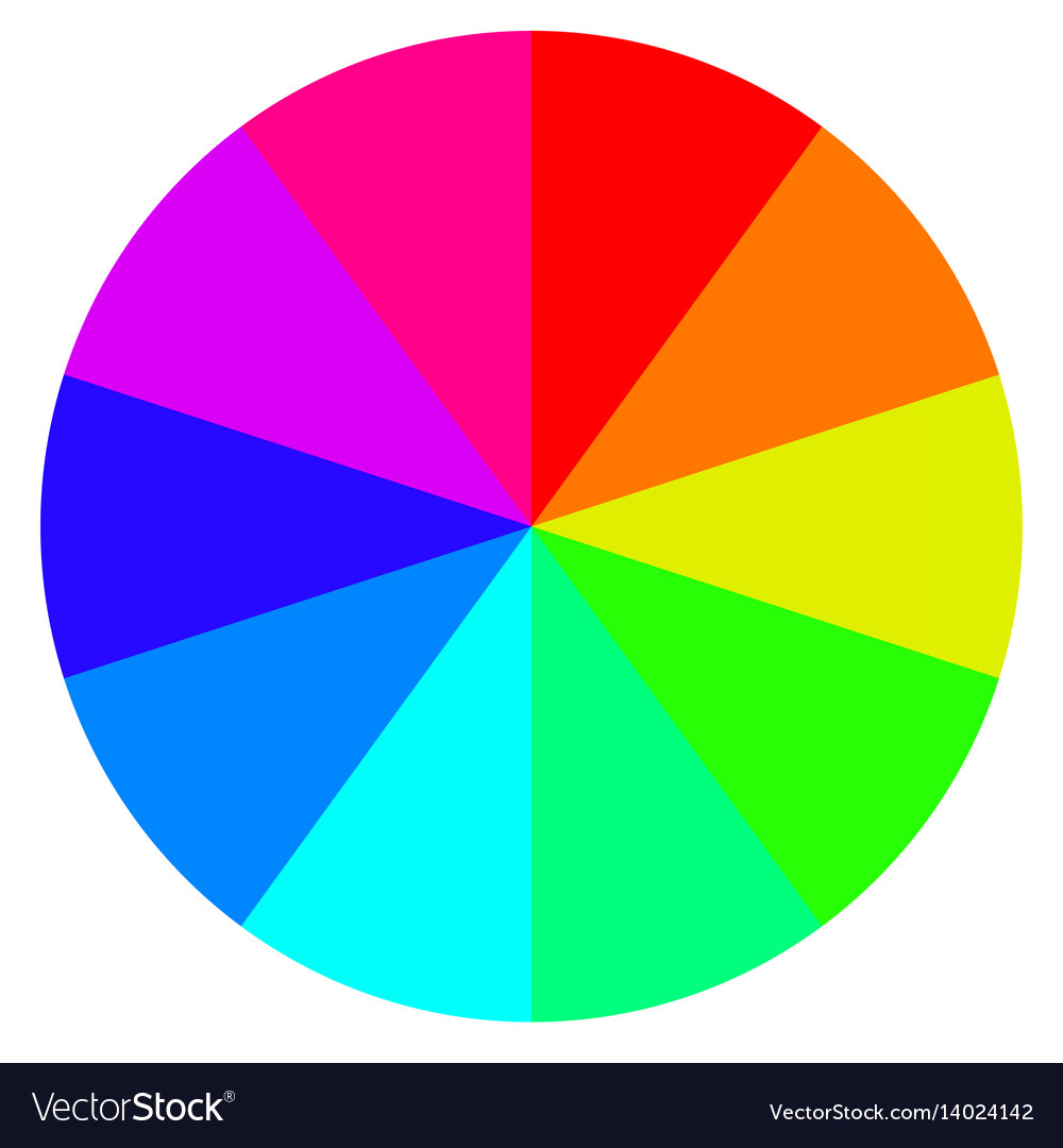 Template Wheel Fortune Color Palette Royalty Free Vector