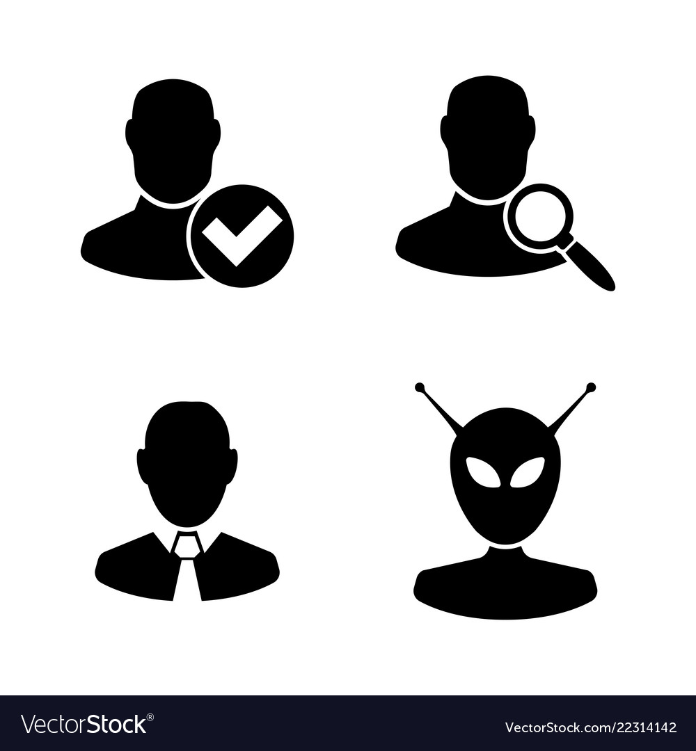 Users avatars simple related icons