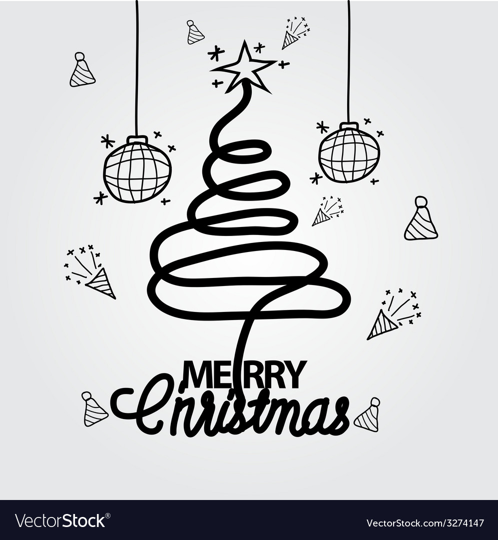 Christmas doodle hand drawn