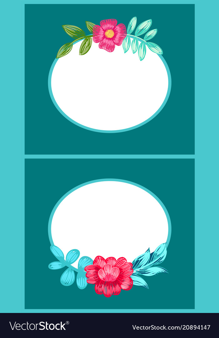 Drawn colorful flowers posters