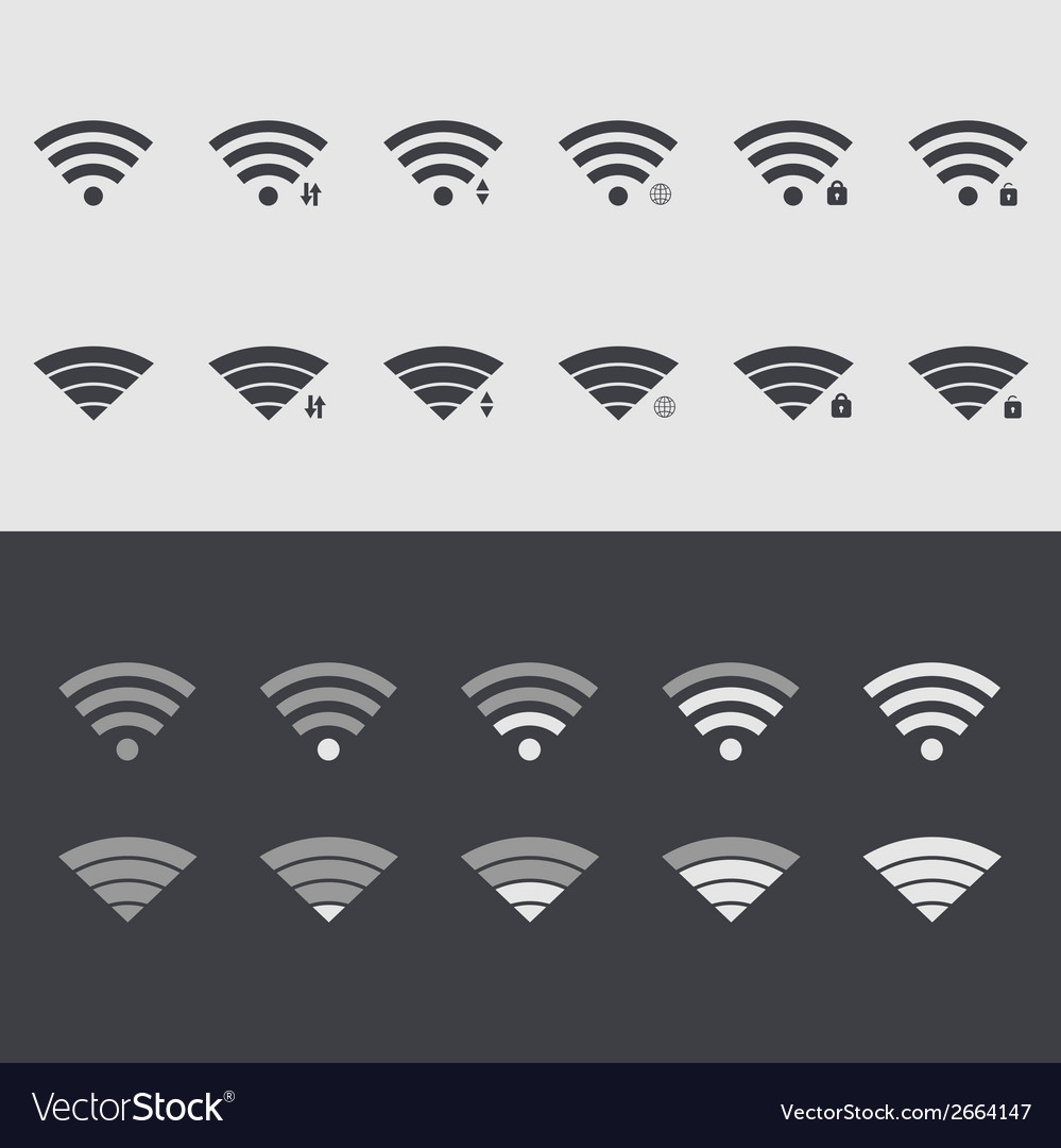 Modern wi fi set icons Web element design