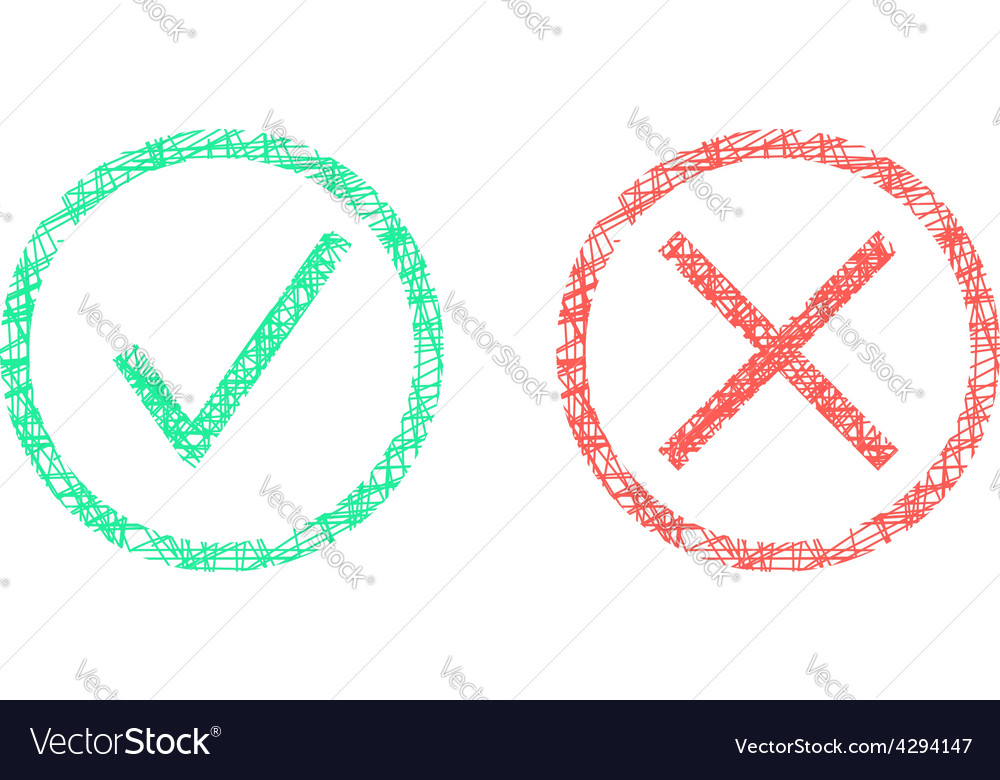 Sketch of check marks in circles