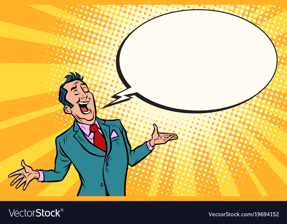 Cocky salesman businessman vector image