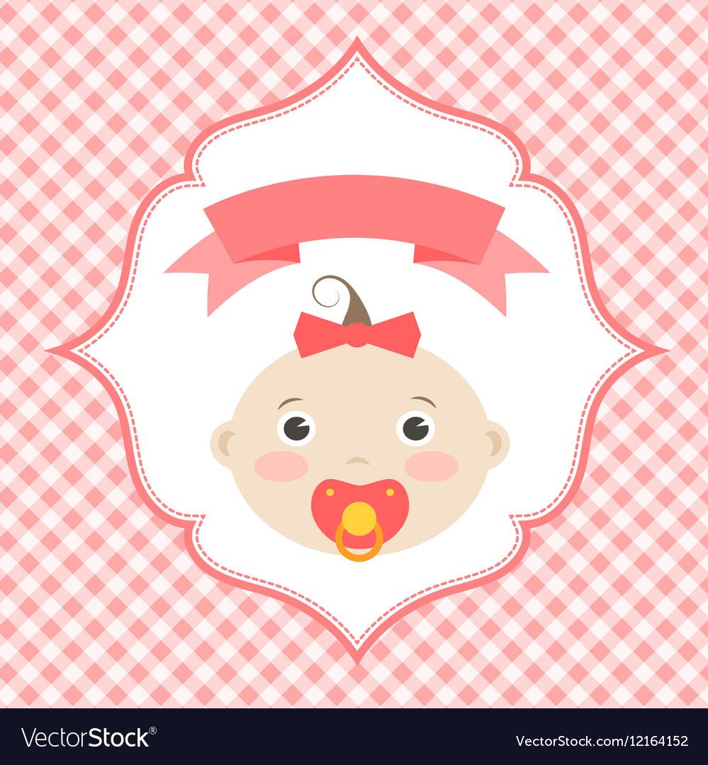 Girl baby shower invitation card