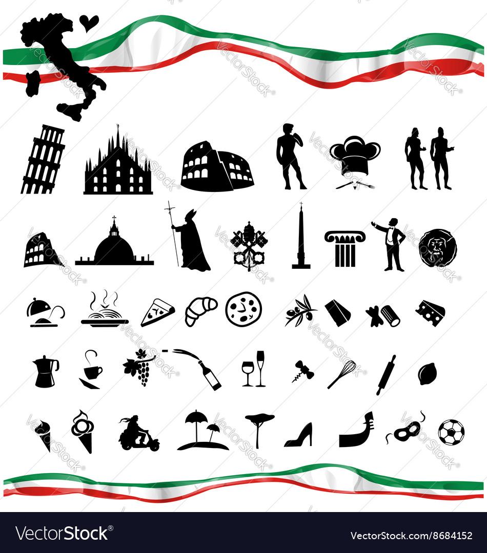 ITALIAN symbol set with flag