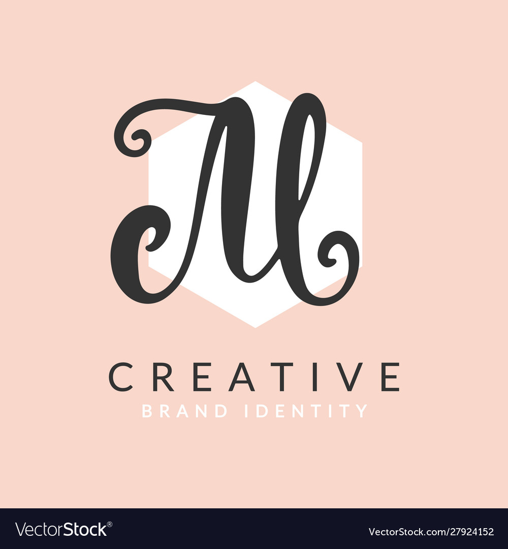 Letter m logo calligraphy design template