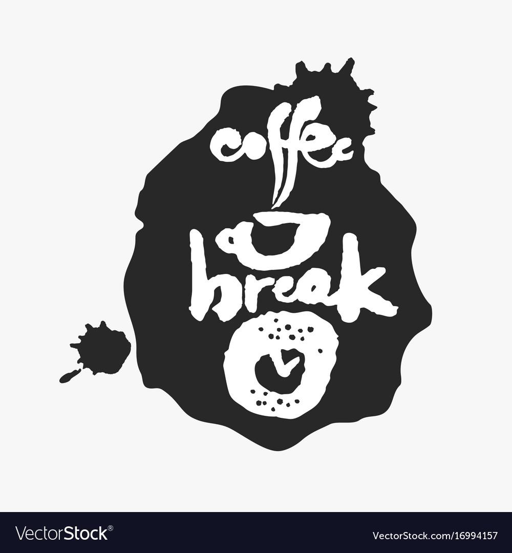 Coffee break in an ink blot