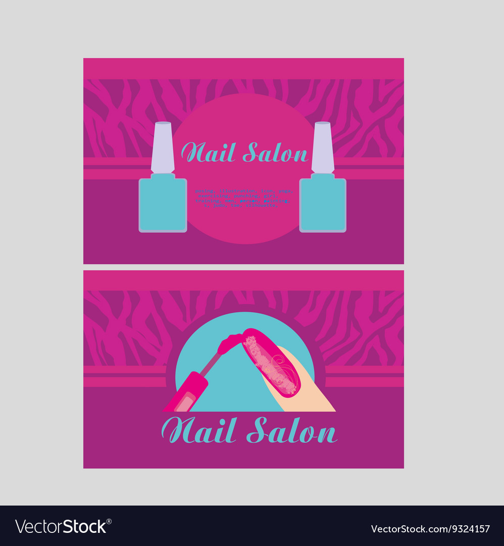 Nail salon design of business cards royalty free vector nail salon design of business cards vector image colourmoves