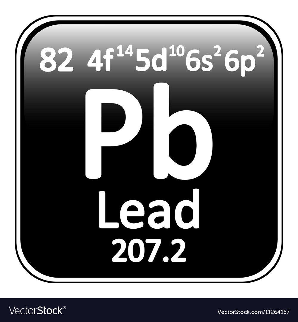 Periodic Table Element Lead Icon Royalty Free Vector Image