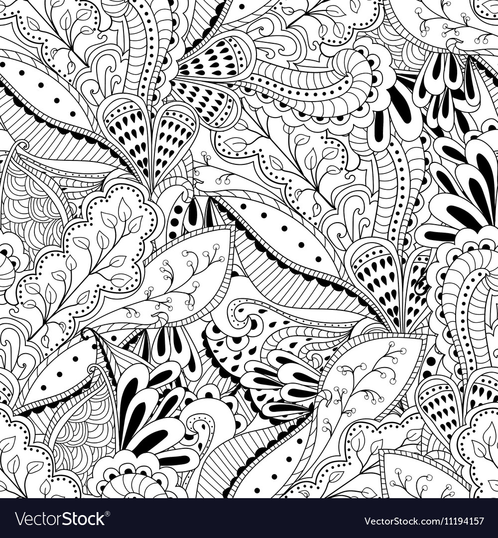 Seamless pattern background with abstract ornament
