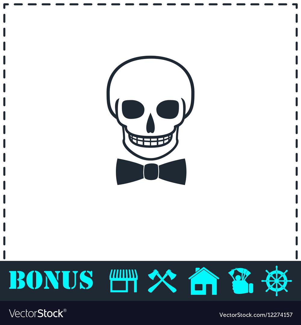Skull icon flat