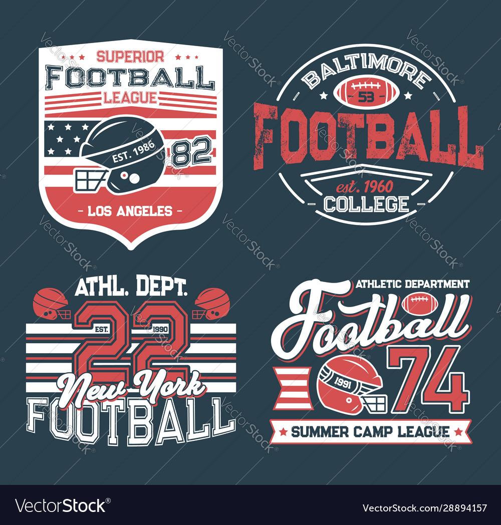 Soccer club football league retro t-shirt prints