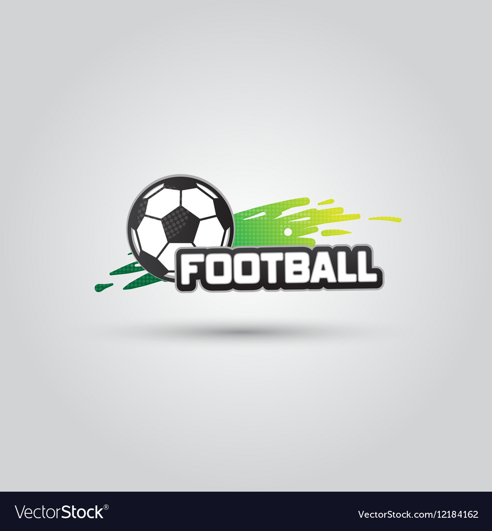 Ball symbol Football Logo Badge Sport emblem vector image