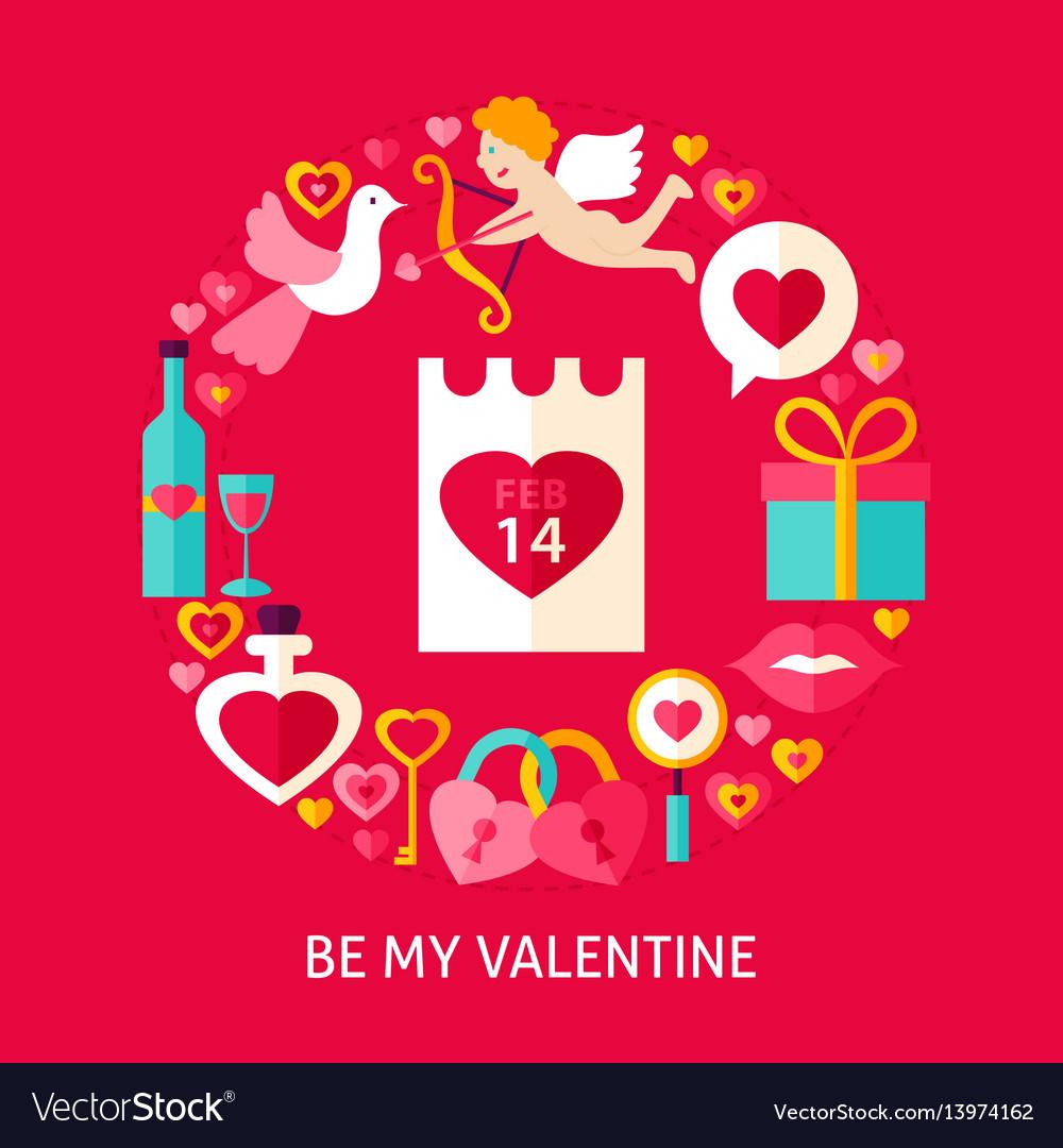 Be my valentine postcard