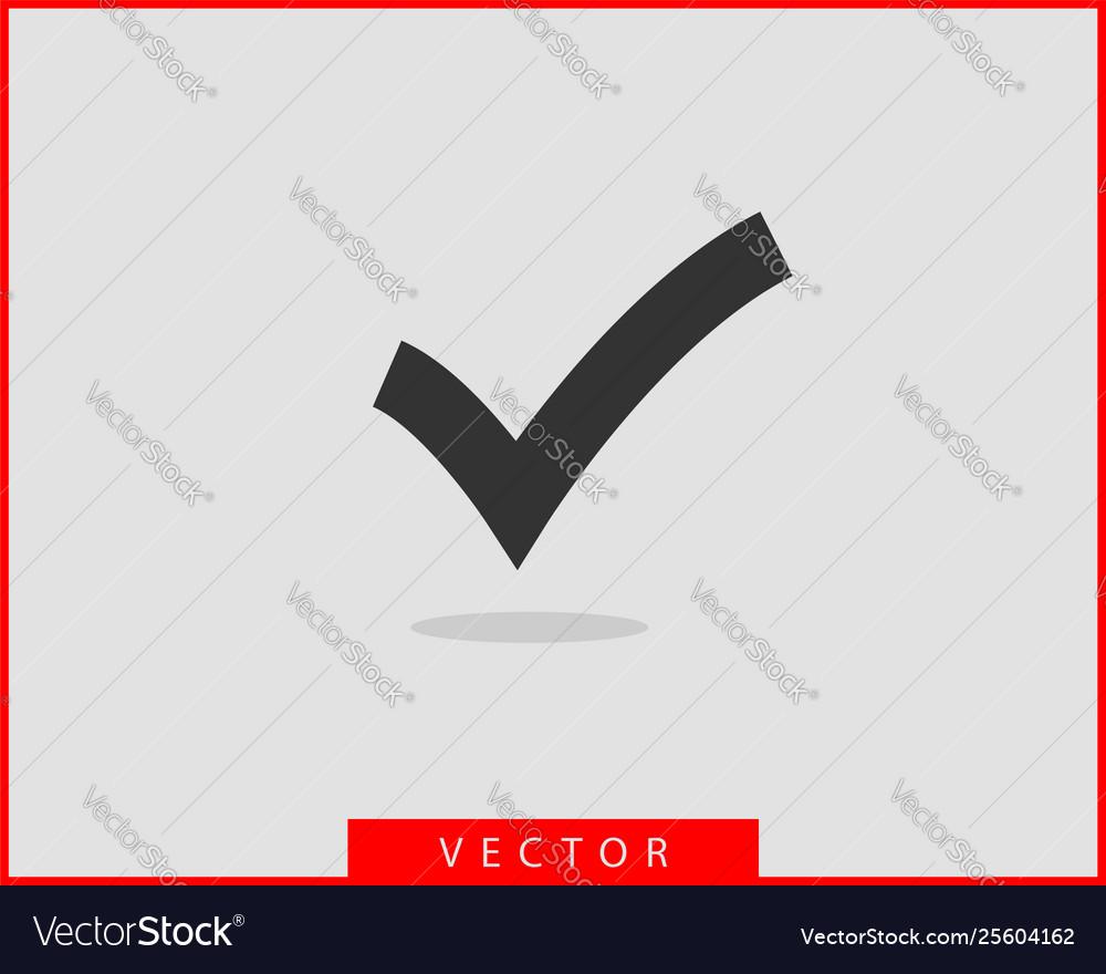 Check mark icon symbol design element