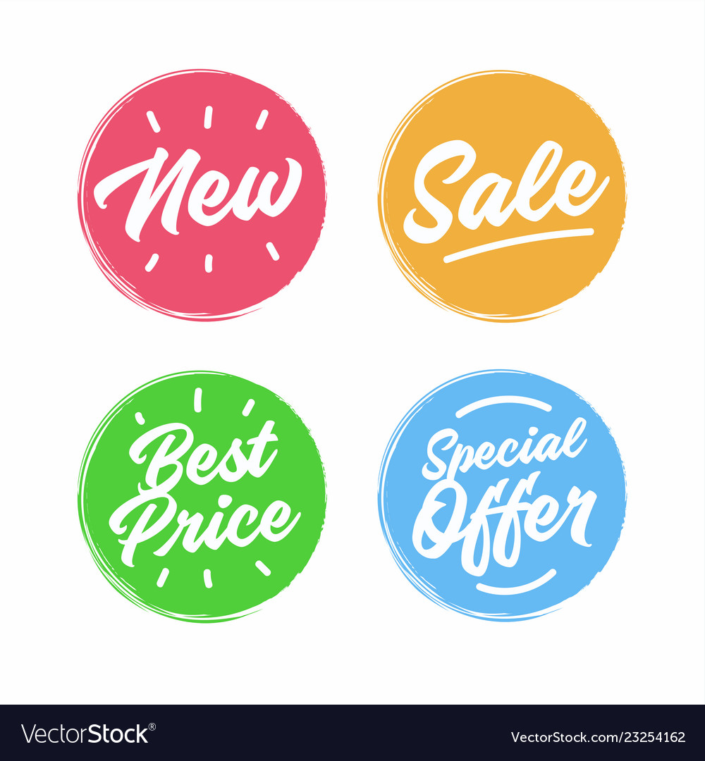 Collection symbols such as special offer sale