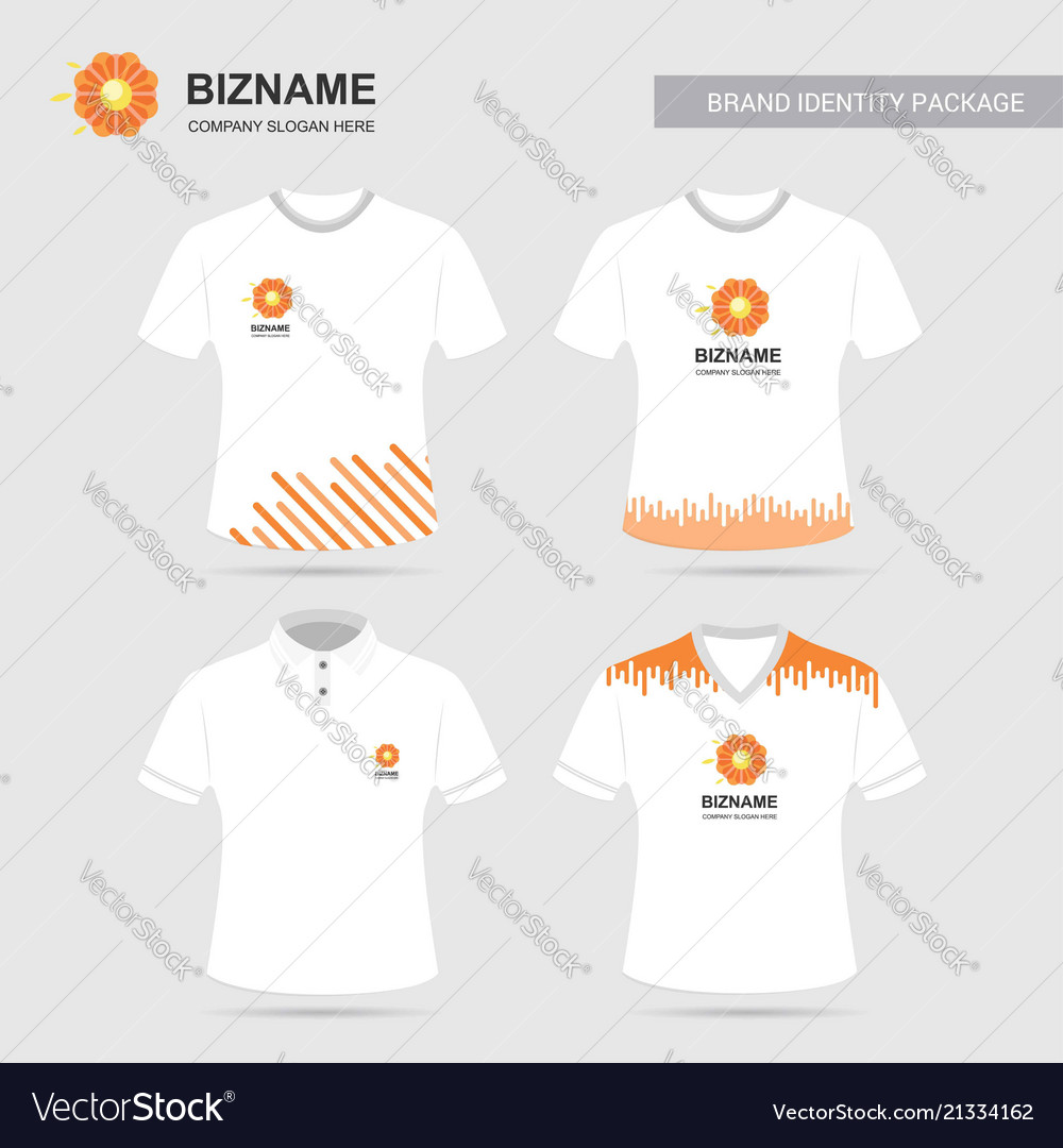 Company logo shirts design with flower logo