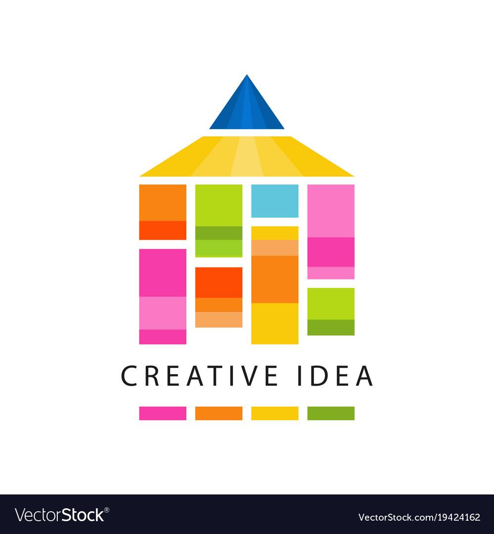 Creative idea logo original template with abstract