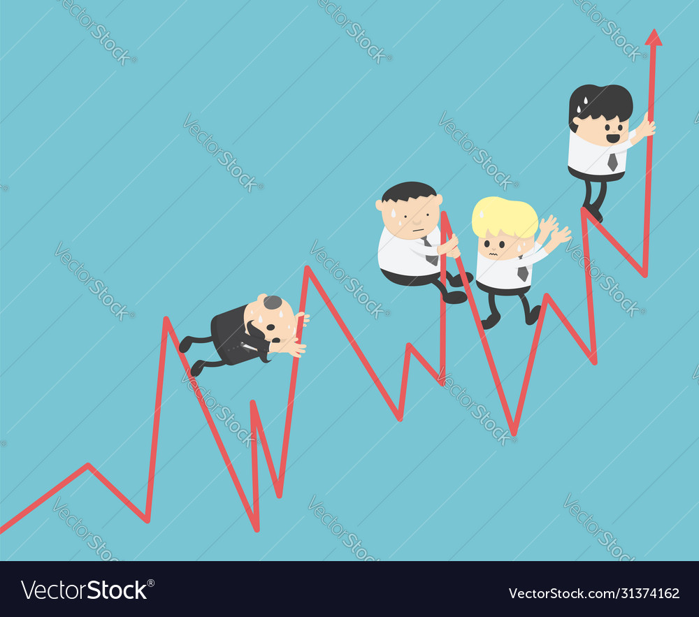 Graph concepts businessmen swarming stock graphs