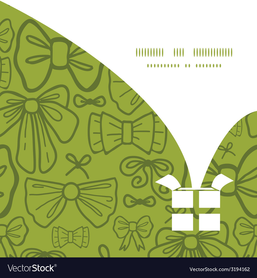 Green bows Christmas gift box silhouette pattern