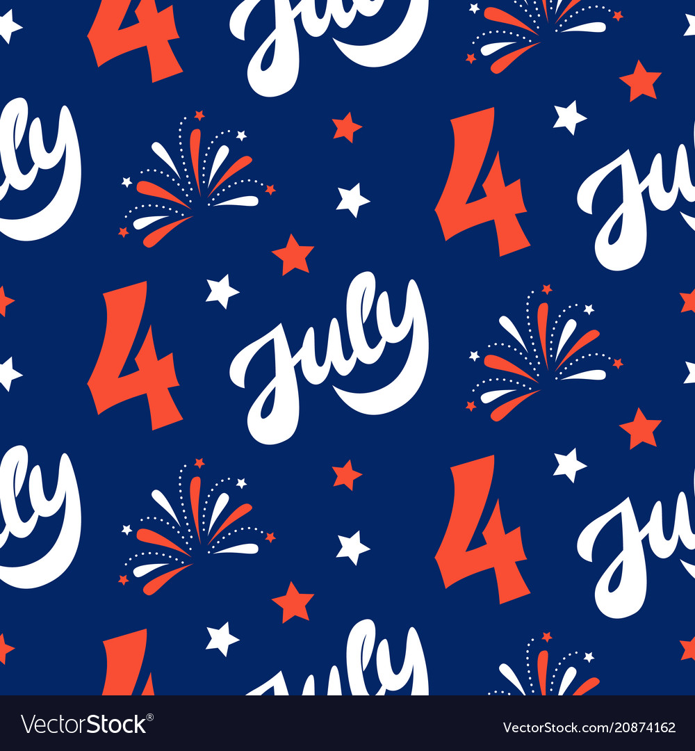 Independence day of america festive pattern