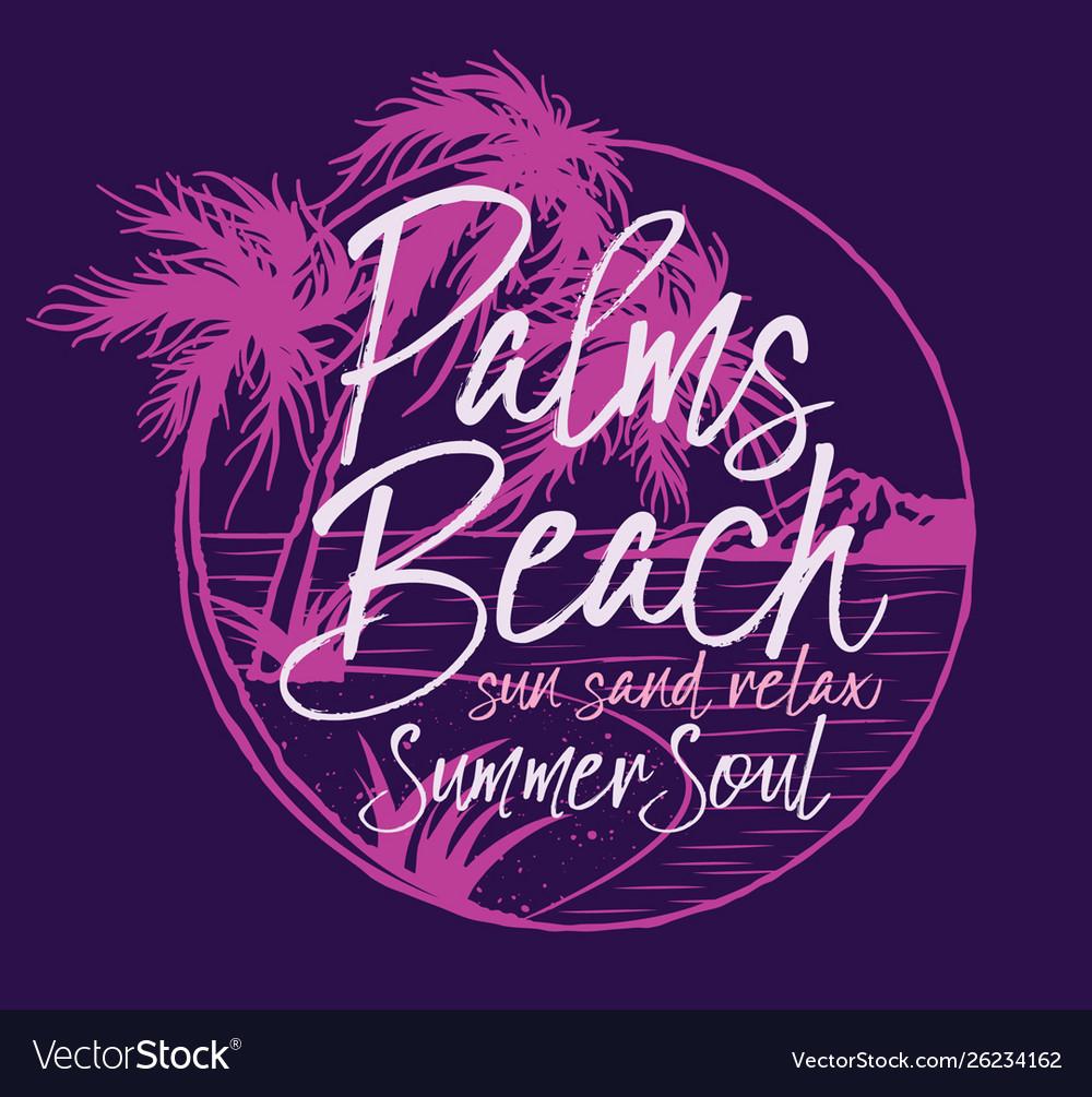 Palm beach tropical summer soul