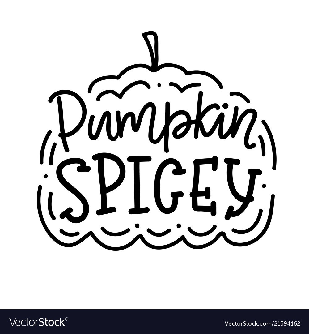 Pumpkin spice inscription poster vector