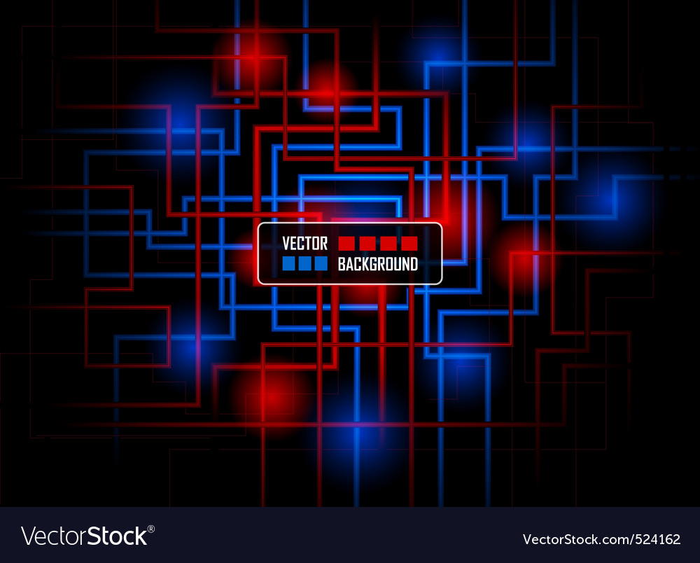 Vector hitech concept against dark background