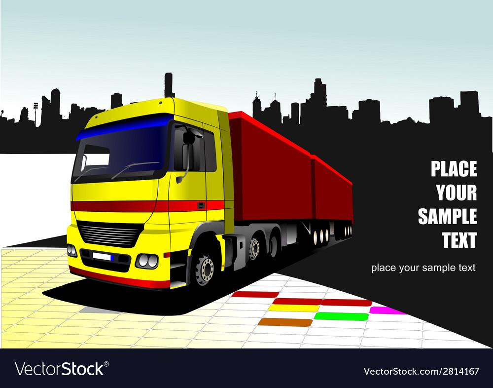 Al 1026 truck 01 vector image