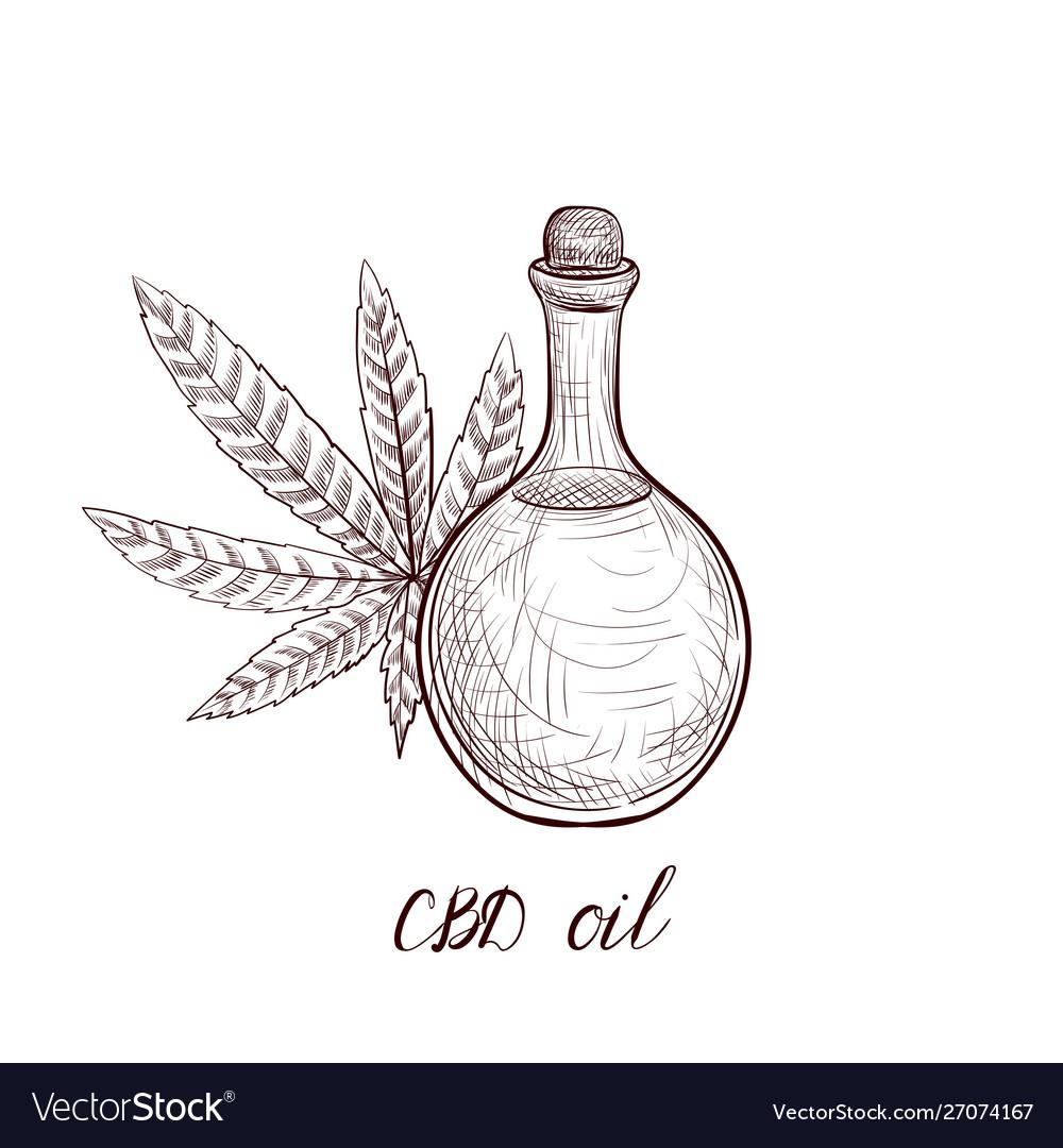 Drawing cbd oil