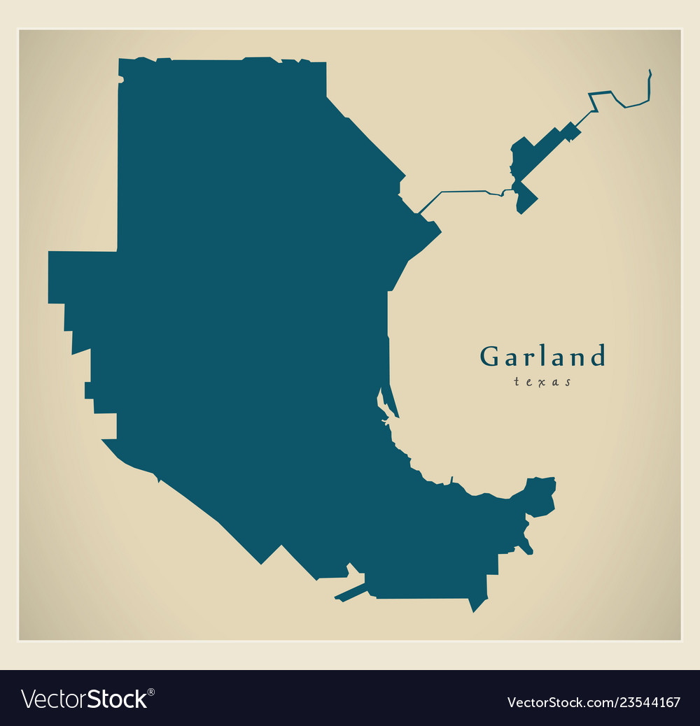 Map Of Texas City.Modern City Map Garland Texas City Of The Usa Vector Image