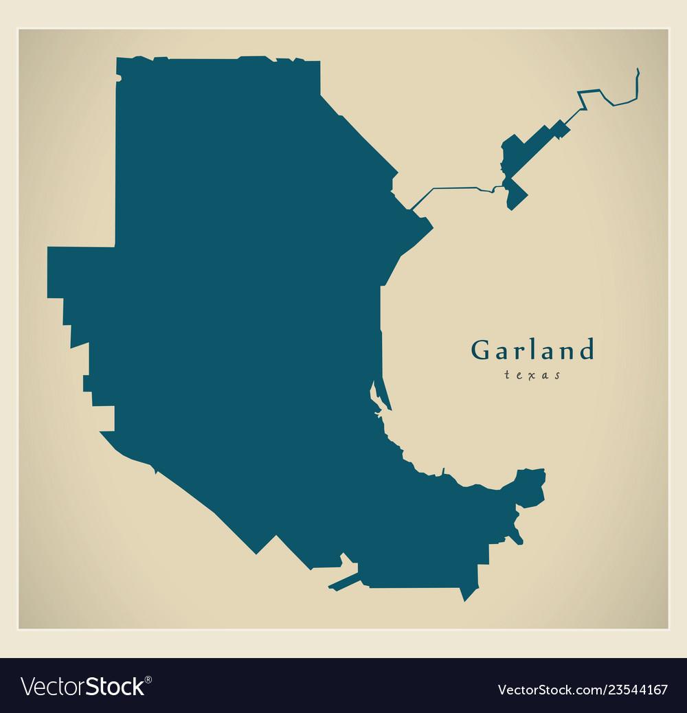 Garland Texas Map >> Modern City Map Garland Texas City Of The Usa