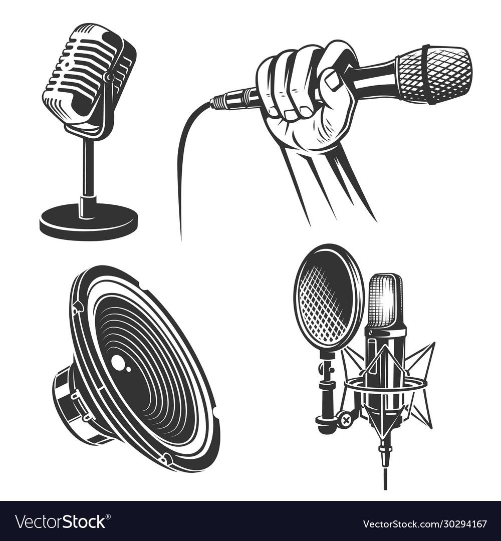 Set karaoke singing icons