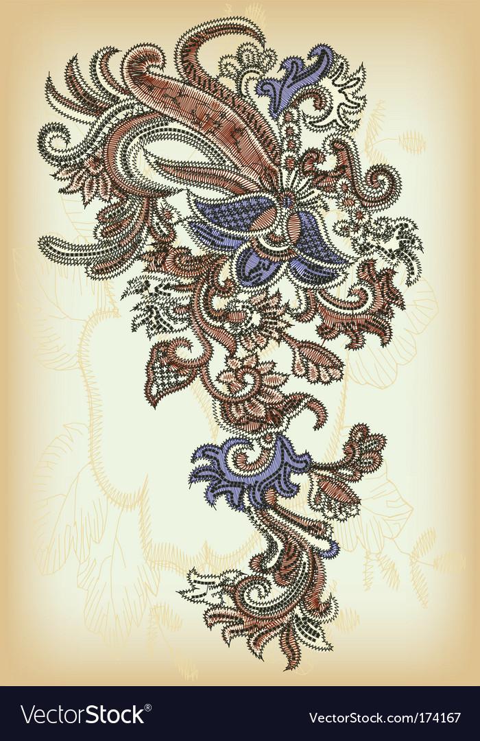 Vintage ornamental design vector image