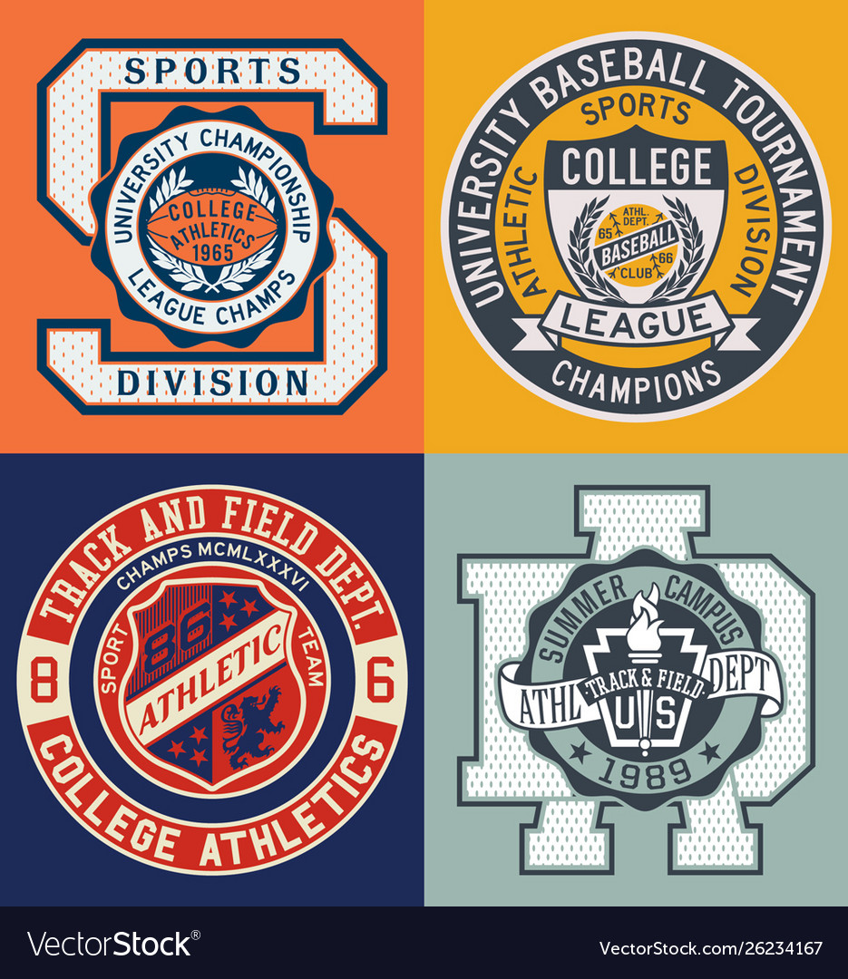 Vintage sporting college athletic department