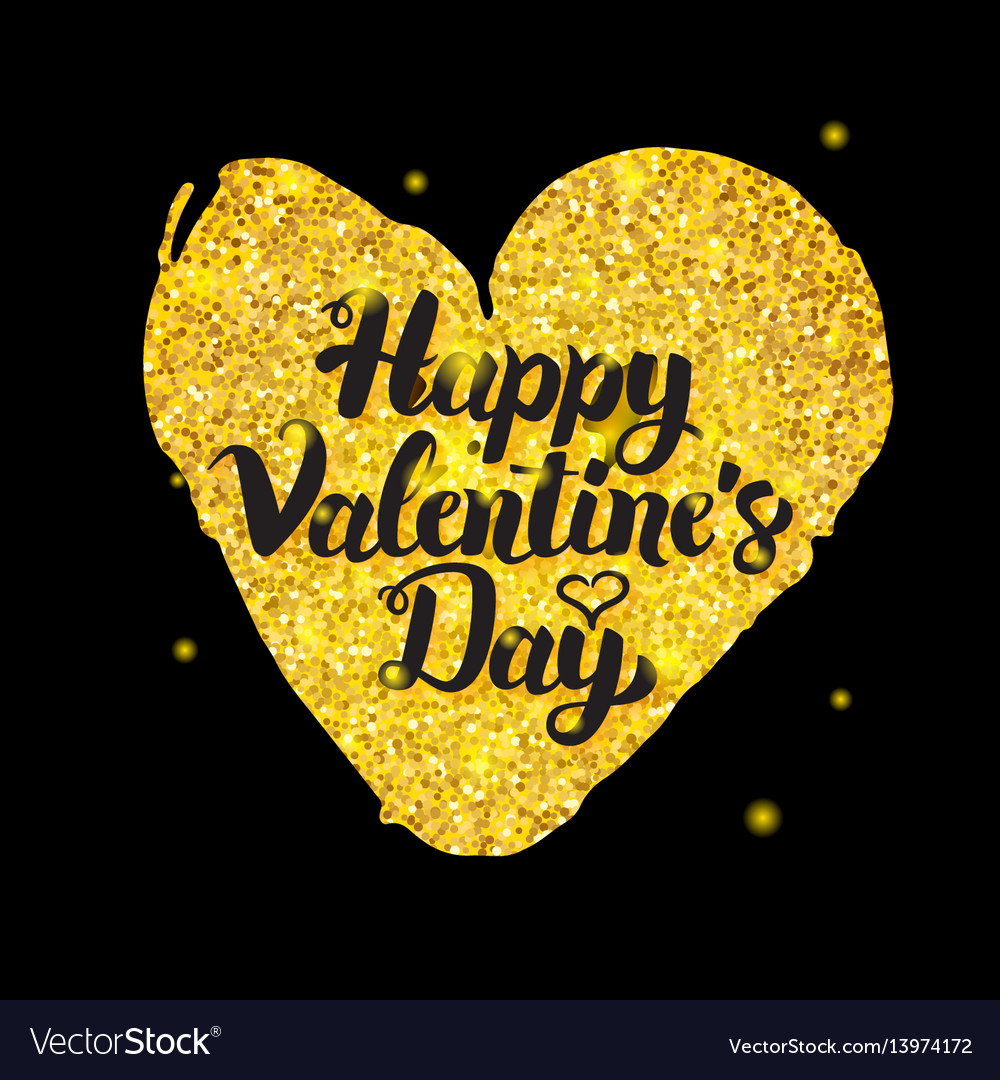 Black gold valentine day